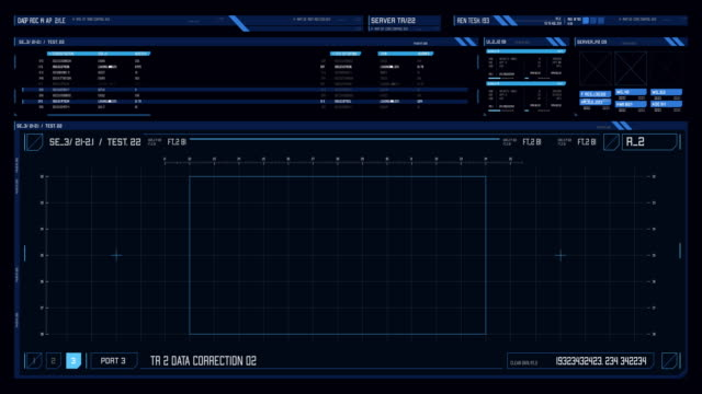 view of futuristic interface/digital screen with hud and infographic elements. - dashboard vehicle part stock videos & royalty-free footage