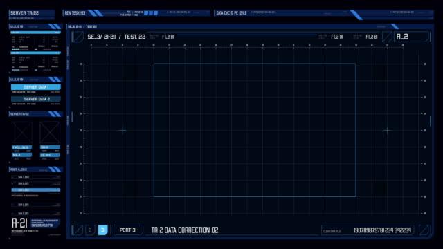 vídeos de stock, filmes e b-roll de visual da interface futurista/tela digital com hud e elementos infográficos. - alvo militar