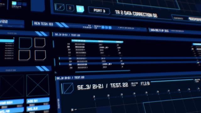 vy över futuristiska gränssnitt / digital skärm med hud och infographic element. - terrorism bildbanksvideor och videomaterial från bakom kulisserna