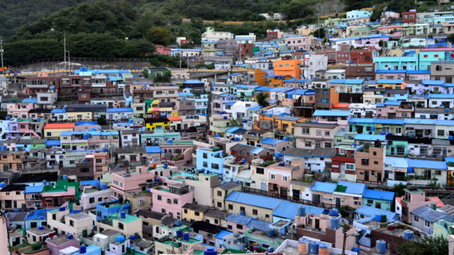 View of Gamcheon Culture Village (Famous tourist attractions)