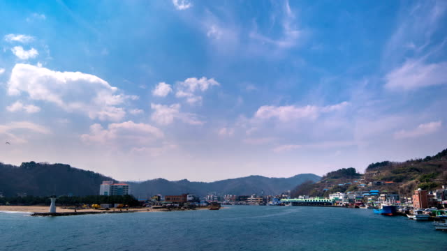 view of gangguhang port (one of popular film locations for many korean dramas and movies) - north gyeongsang province stock videos & royalty-free footage
