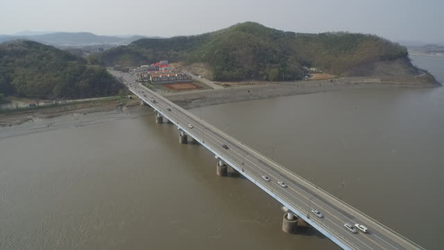 view of ganghwadaekyo bridge(local landmark) - local landmark stock videos and b-roll footage