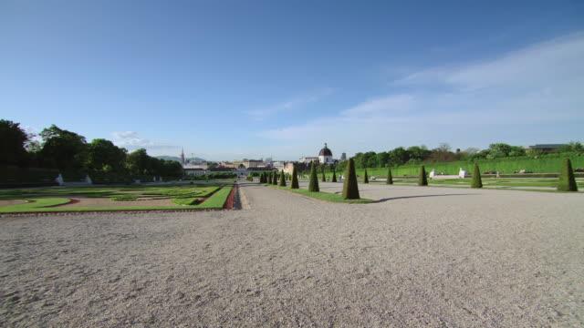 WS TU View of gardens at Belvedere Palace / Vienna, Austria
