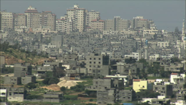 ws zo pan view of gaza strip / gaza, gaza strip, israel  - gaza strip stock videos & royalty-free footage