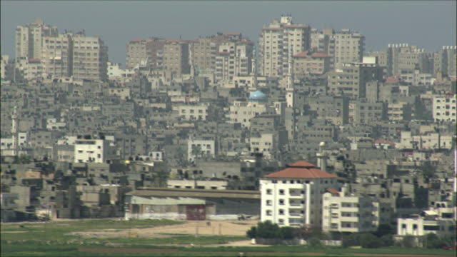 ws pan view of gaza strip / gaza, gaza strip, israel  - gaza strip stock videos & royalty-free footage