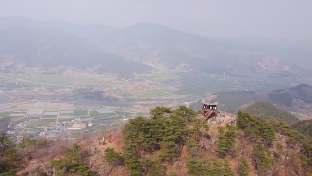 stockvideo's en b-roll-footage met view of gazebo at saseongam hermitage - gazebo