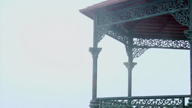 stockvideo's en b-roll-footage met ms zo view of gazebo / rishikesh, uttarakhand, india - gazebo