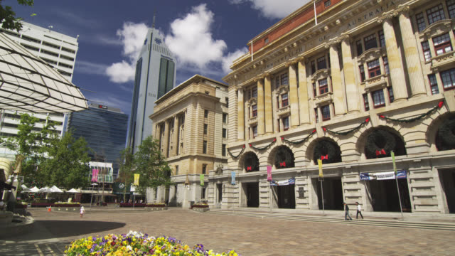 ws view of general post office at forrest place / perth, western australia, australia - post office stock videos and b-roll footage