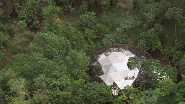 WS AERIAL View of geodesic dome / Bahia, Brazil