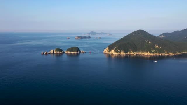 view of geoje haegeumgang island, south korea - clear sky stock videos & royalty-free footage