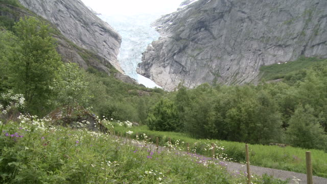 WS View of glacier Briksdalsbreen / Jostedalsbreen Nationalpark, Sogn og Fjordane, Norway