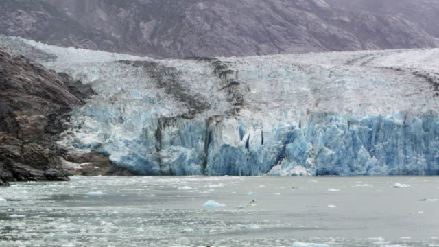 View of glacier meeting the ocean