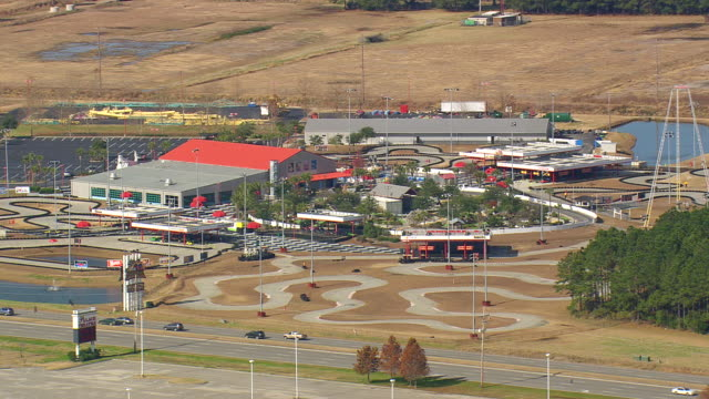 WS AERIAL ZI View of go karting track / South Carolina, United States