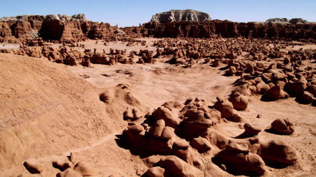ws view of goblin valley state park / green river, utah, usa - river green stock videos & royalty-free footage