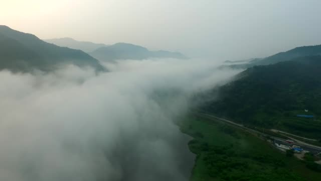 view of gokseong wetland in jeollanam-do province, south korea - jeollanam do stock videos & royalty-free footage