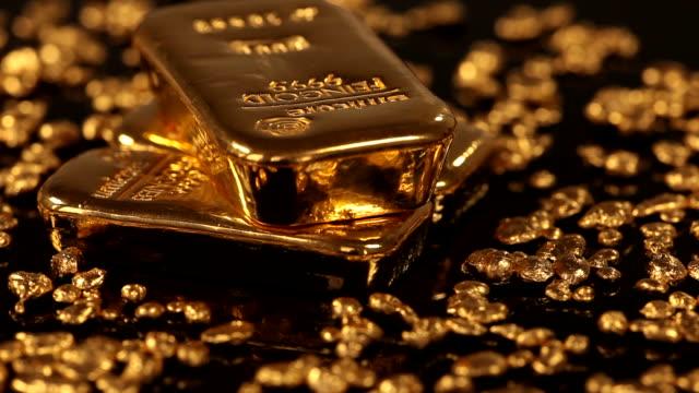 ms ds view of gold ingots / hanau, hesse, germany  - western script stock videos & royalty-free footage