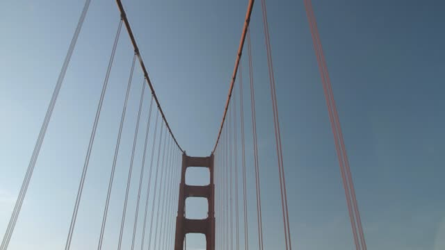 view of golden gate bridge from car, san francisco, california, united states of america, north america - golden gate bridge stock-videos und b-roll-filmmaterial