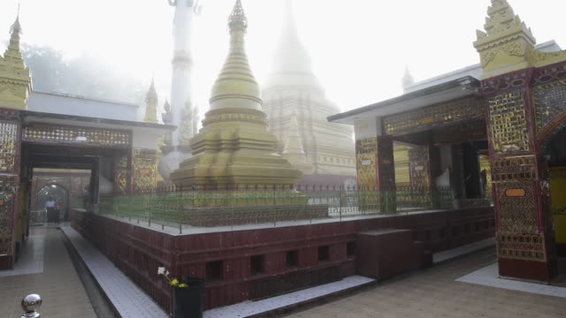 ms td view of golden stupa in mandalay hill temple / mandalay, mandalay division, myanmar - mandalay stock videos and b-roll footage