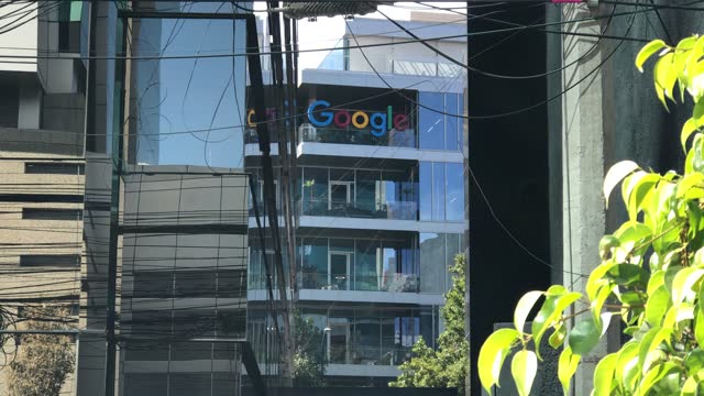 view of google mexico head office on december 31 in mexico city, mexico. mexico city is suspending non-essential activities from this saturday until... - non urban scene stock-videos und b-roll-filmmaterial