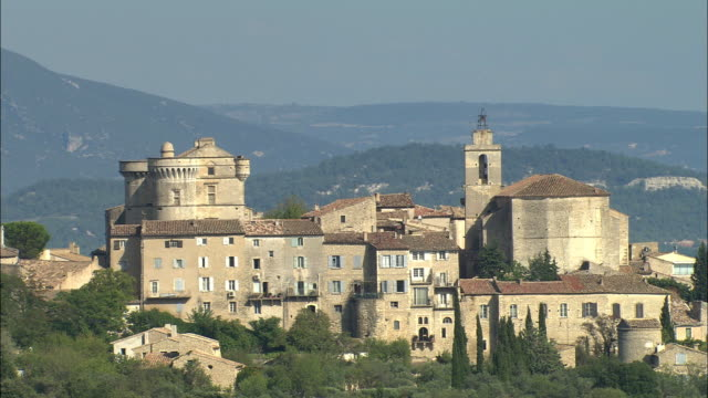 AERIAL, View of Gordes Provence-Alpes-Cote d'Azur, France