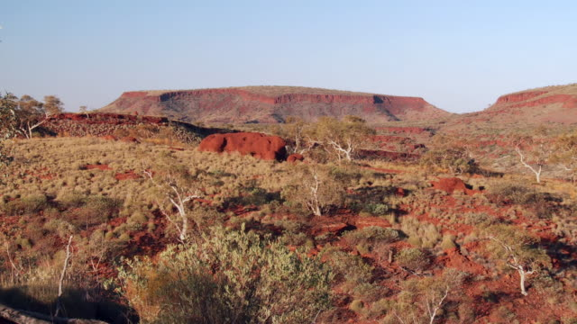 WS PAN View of gorges at national park / Karijini, Western Australia, Australia