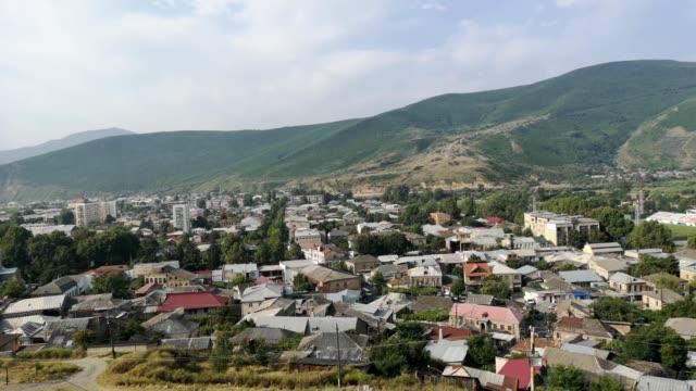 vídeos de stock, filmes e b-roll de view of gori city, georgia - muito pequeno