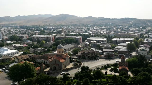 stockvideo's en b-roll-footage met view of gori city, georgia - geboren in