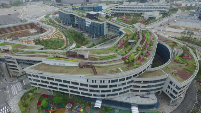 View of Government Building and roof garden in Sejong City, South Korea