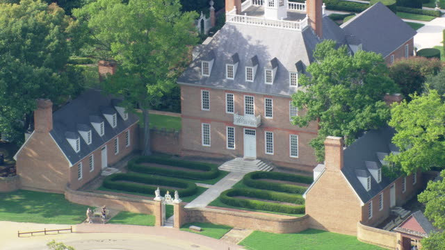 ws aerial zi zo view of governor's mansion / virginia, united states - governor stock videos & royalty-free footage