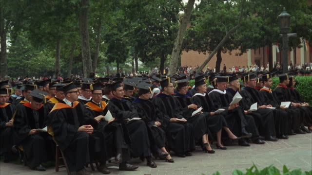 WS PAN View of graduation ceremony in campus