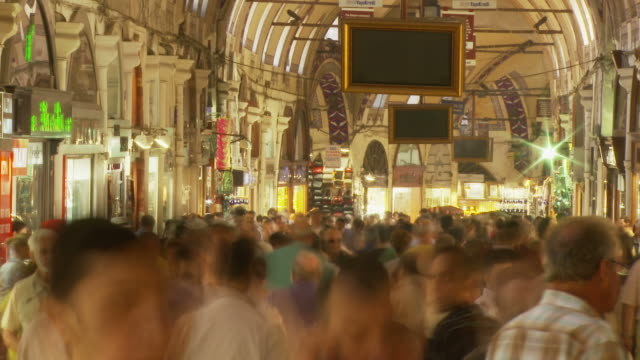 view of grand bazaar in istanbul, turkey - grand bazaar istanbul stock videos and b-roll footage