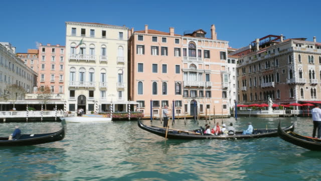 view of grand canal in venice - mediterranean culture stock videos & royalty-free footage
