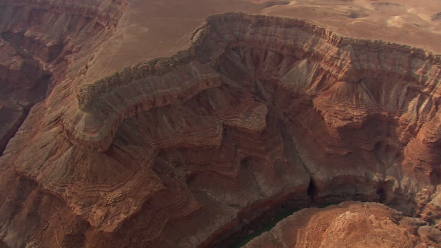 ws aerial view of grand canyon with lake / arizona, united states - grand canyon video stock e b–roll