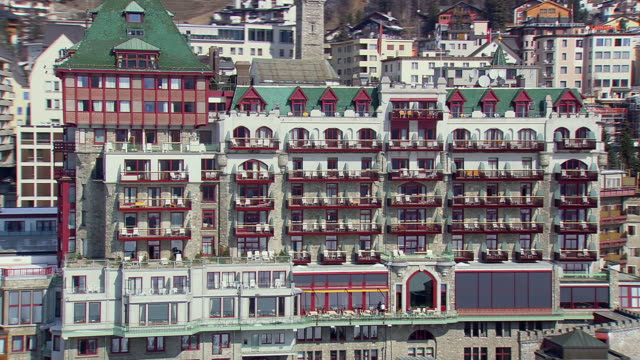 WS AERIAL DS View of Grand hotels, resorts / Switzerland