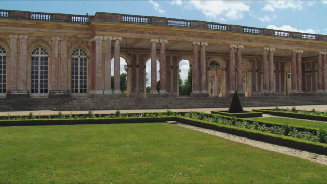 ws view of grand trianon exterior / versailles, ile de france, france - chateau de versailles stock videos and b-roll footage