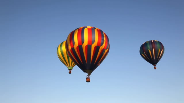ws view of great prosser balloon rally / prosser, washington, united states - hot air balloon stock videos & royalty-free footage