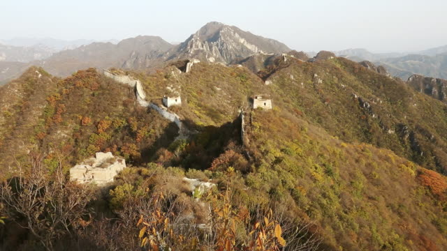 ws view of great wall mutianyu / huairou,â china - mutianyu stock videos & royalty-free footage