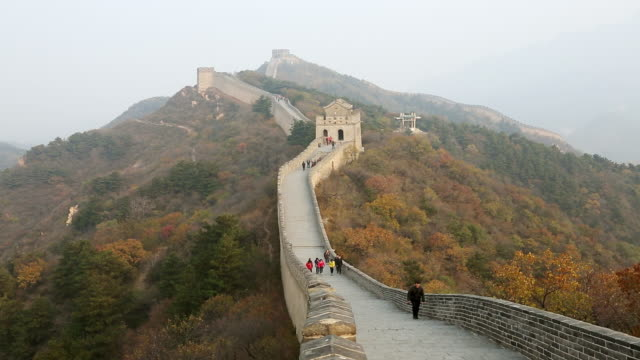 vídeos y material grabado en eventos de stock de ws view of great wall of china badaling / yanqing, china  - badaling