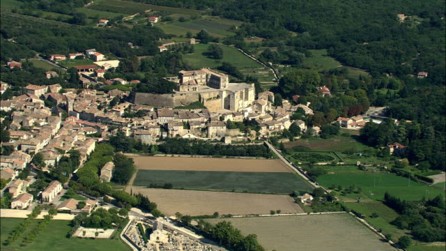 AERIAL, View of Grignan, Rhone-Alpes, France