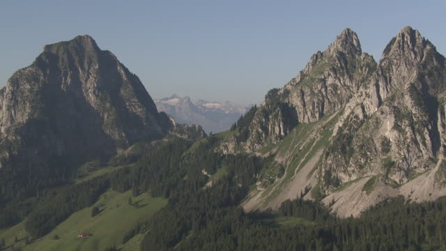 WS POV  View of Grosser Mythen Mid / Alpthal, Schwyz, Switzerland