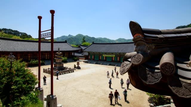 view of haeinsa temple (unesco heritage site) - religiöse stätte stock-videos und b-roll-filmmaterial