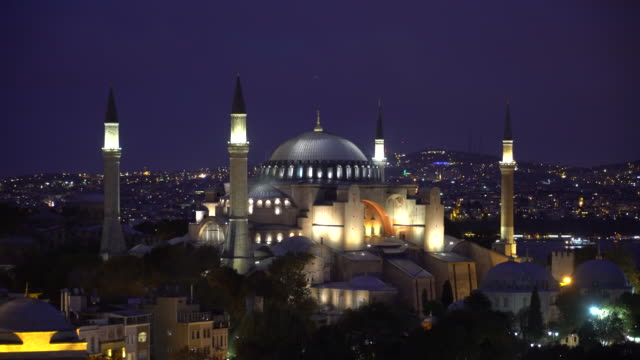 View of Hagia Sophia, Christian patriarchal basilica, imperial mosque, museum