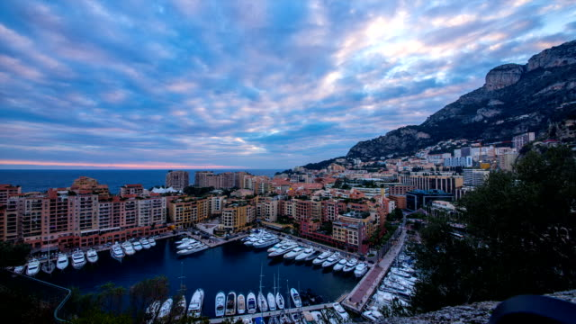 view of harbor and royal palace of monaco - royal palace monaco stock videos and b-roll footage