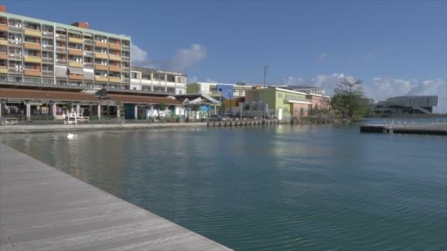 vidéos et rushes de view of harbour, pointe-a-pitre, guadeloupe, french antilles, west indies, caribbean, central america - guadeloupe