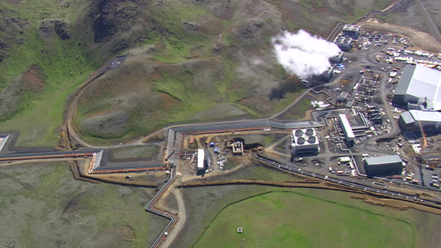WS AREAIL View of Hellisheidi geothermal power plant / Iceland