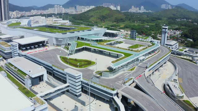 view of heung yuen wai (hyw) highway in hong kong - elevated road stock videos & royalty-free footage