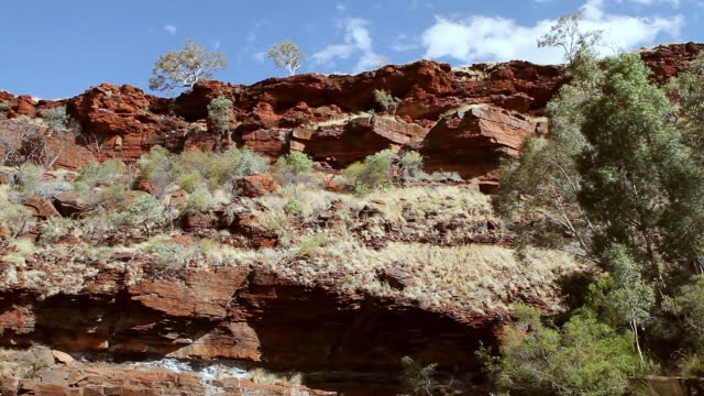 ws view of hidden valley and red rocks / perth, australia  - red rocks stock videos & royalty-free footage