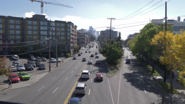 stockvideo's en b-roll-footage met view of highway 99 on outskirts of downtown seattle, seattle, washington state, united states of america, north america - pan american highway