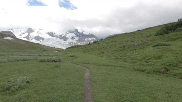stockvideo's en b-roll-footage met pov view of hiking on the berg lake trail, mt. robson provincial park. - time-lapse - onverharde weg