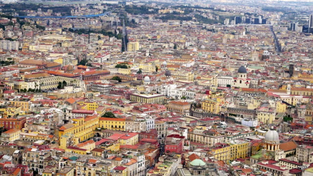 a view of historic naples, italy, view from above - ナポリ点の映像素材/bロール